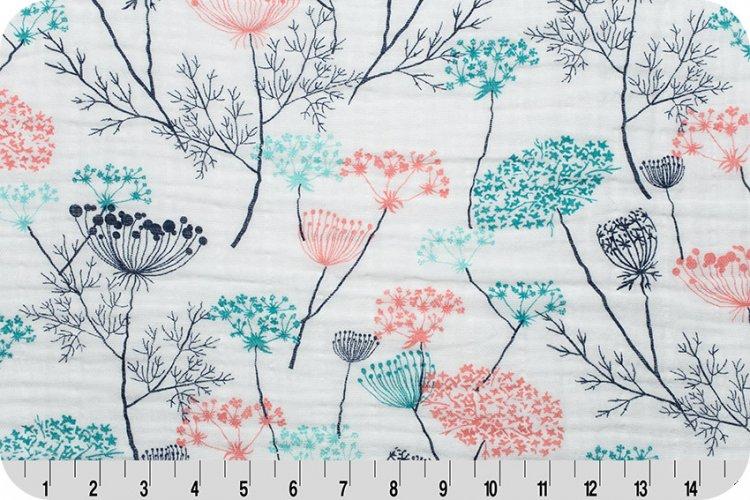 Shannon Fabrics - Embrace - Queen Anne's Lace Double Gauze (Coral)