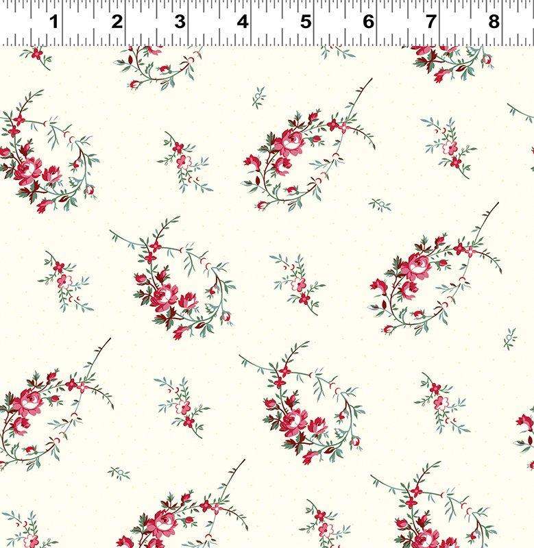 Clothworks - Raspberry & Cream - Y2060-2