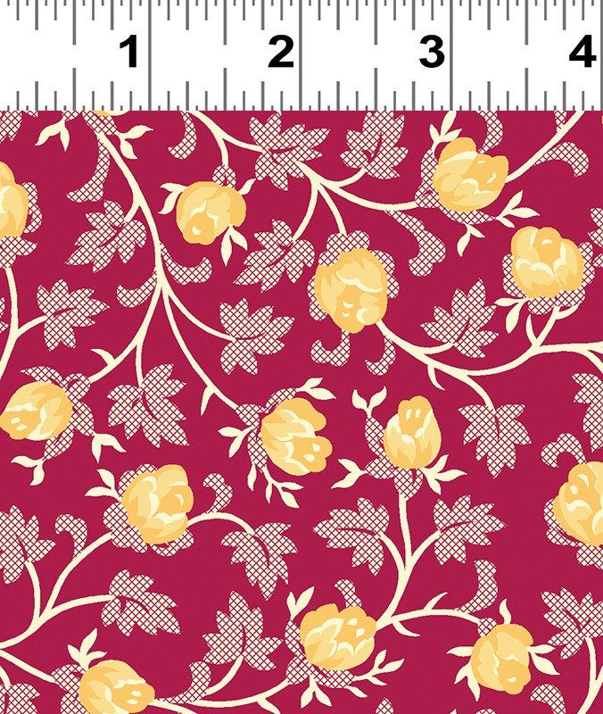 Clothworks - Raspberry & Cream - Y2061-82