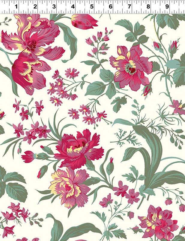 Clothworks - Raspberry & Cream - Y2058-2