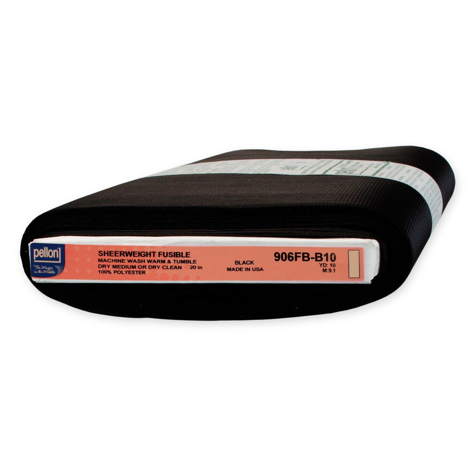 Interfacing - Pellon - 906F Nonwoven Polyester Fusible Sheerweight (Black)