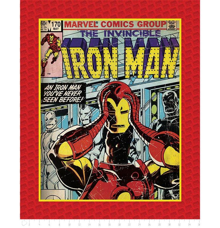 Camelot Fabrics - Marvel Comics - Iron Man Panel