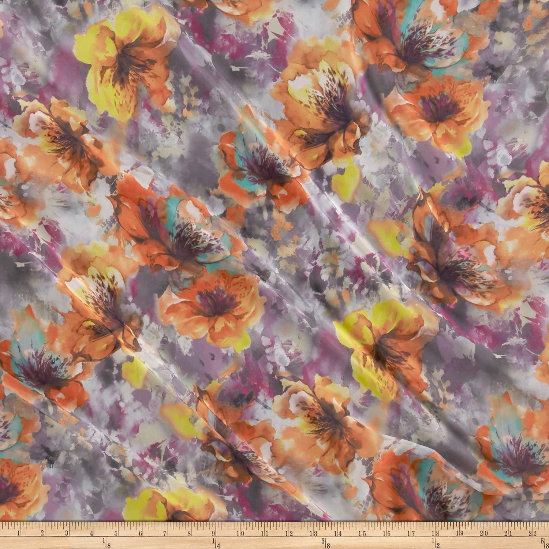Telio - Kimono Chiffon Watercolor Floral