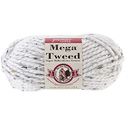Premier - Mega Tweed - White