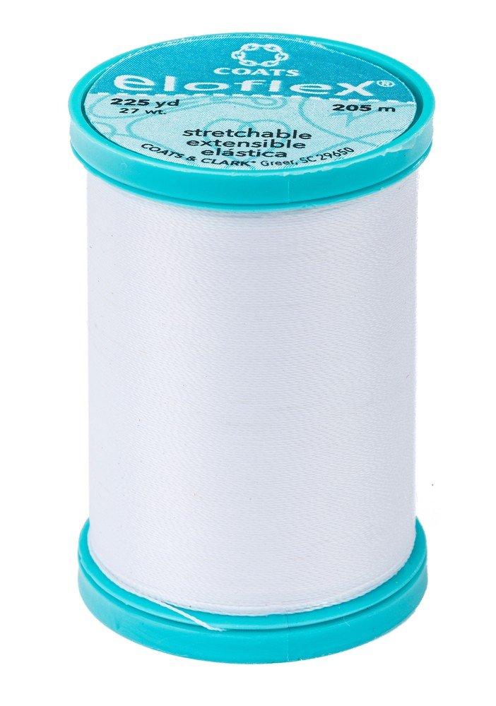 Eloflex Stretchable Thread - White (225 yards)