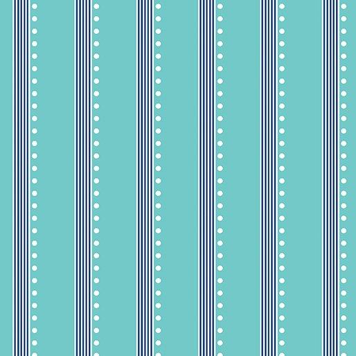Benartex - Bree - Stripe Aqua