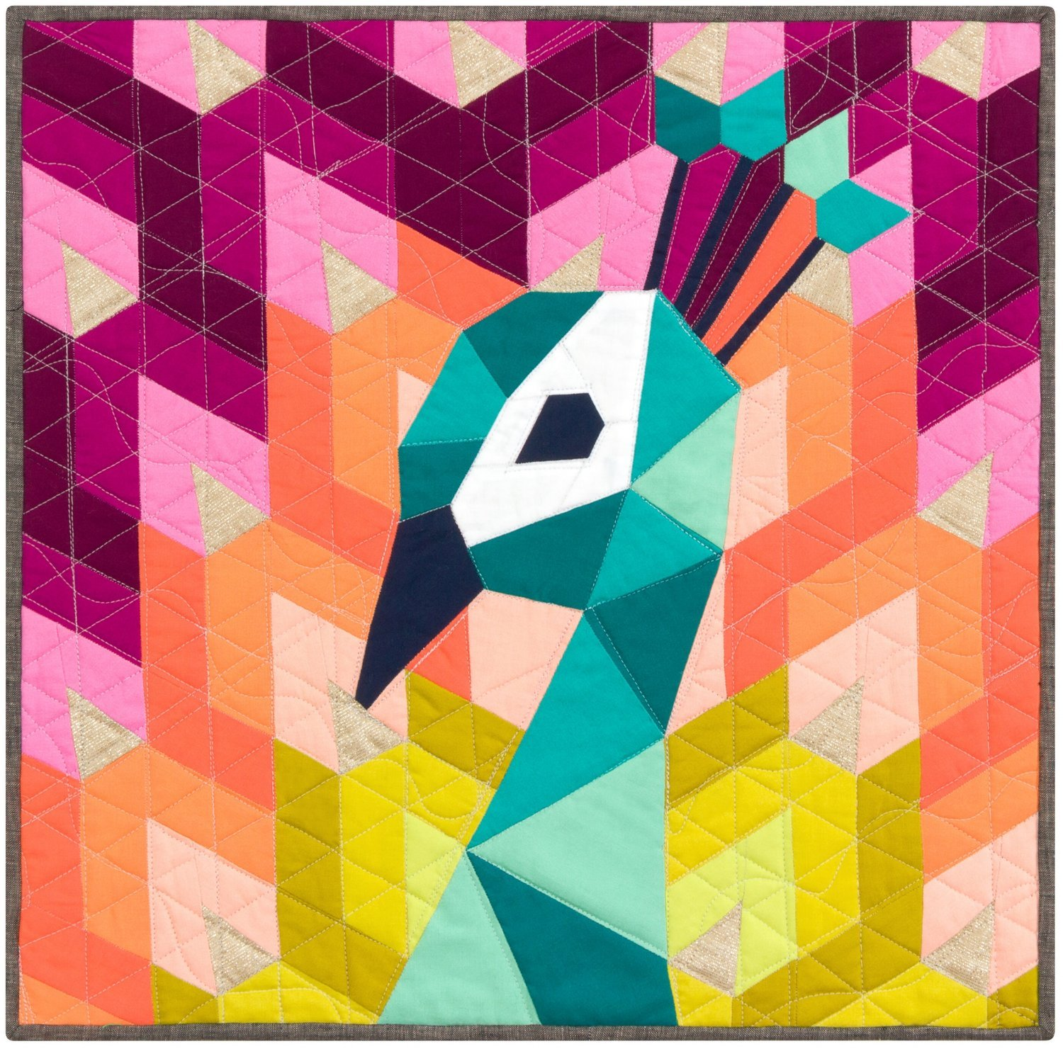 Pattern - Violet Craft - The Peacock (English Paper Piecing Project)