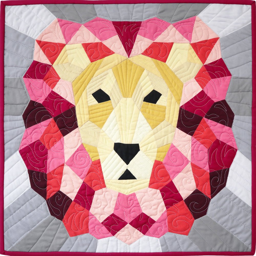 Pattern - Violet Craft - The Lion (English Paper Piecing Project)