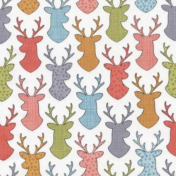 Timeless Treasures - Happy Camper - Deer Head