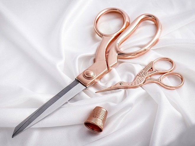 Klasse Rose Gold Scissors Set