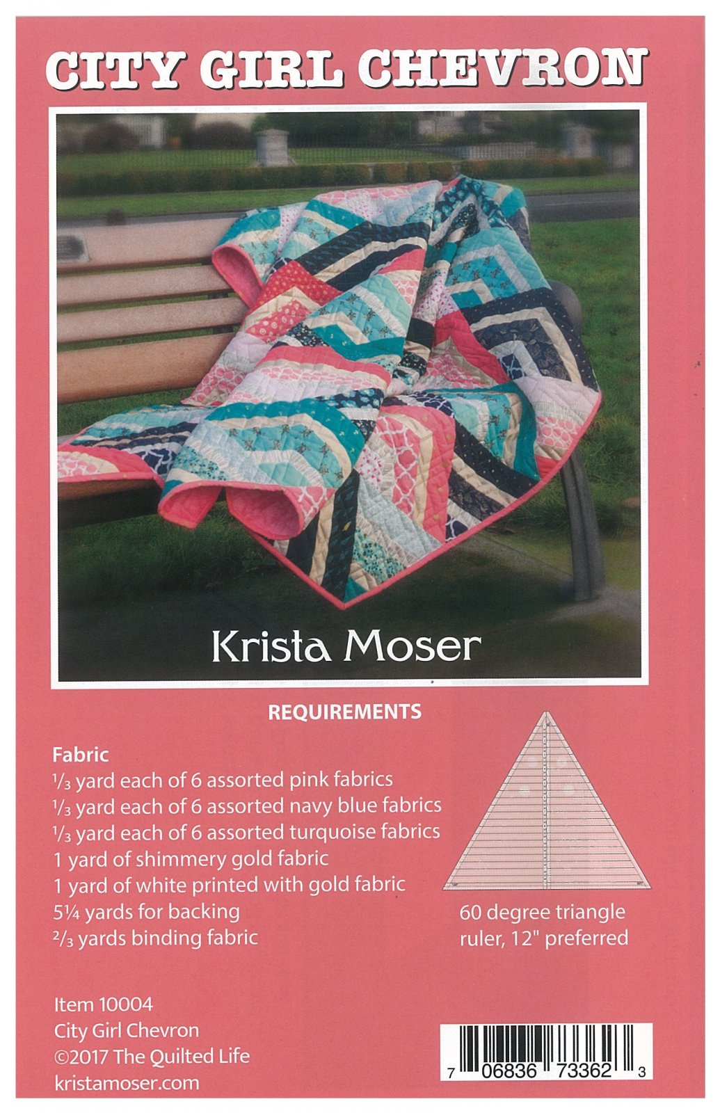 Pattern - Krista Moser - City Girl Chevron Quilt