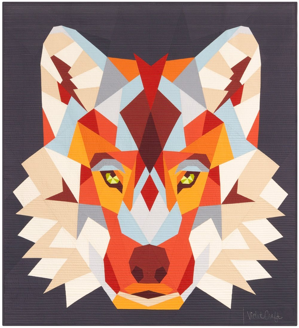 Pattern - Violet Craft - The Wolf Abstraction (English Paper Piecing Project)