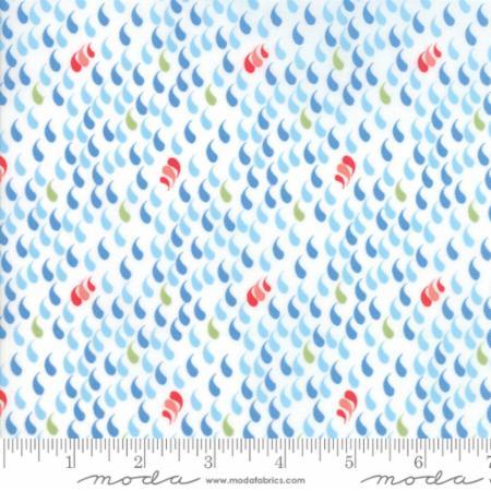 Moda - Coledale - Raindrops (White)