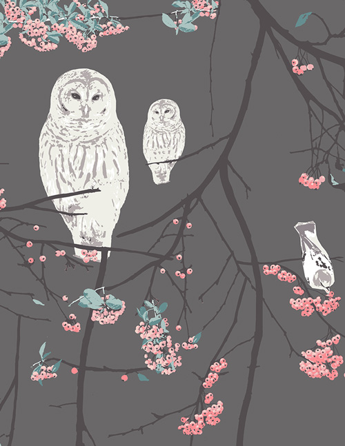 Art Gallery Fabrics - Blithe - Bird Songs Moon