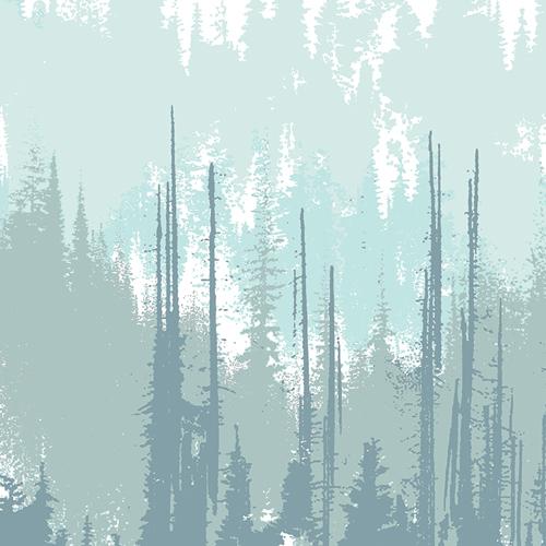 Art Gallery Fabrics - Blithe - Evergreens Frozen