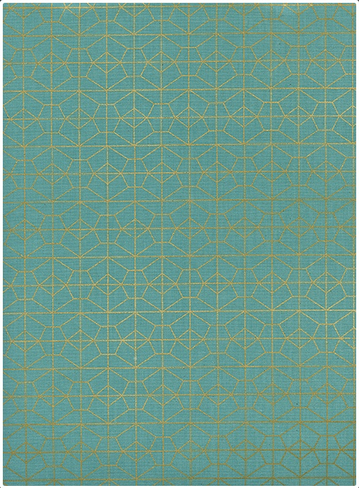 Cotton + Steel - Akoma - Geo Grid (Sky metallic)