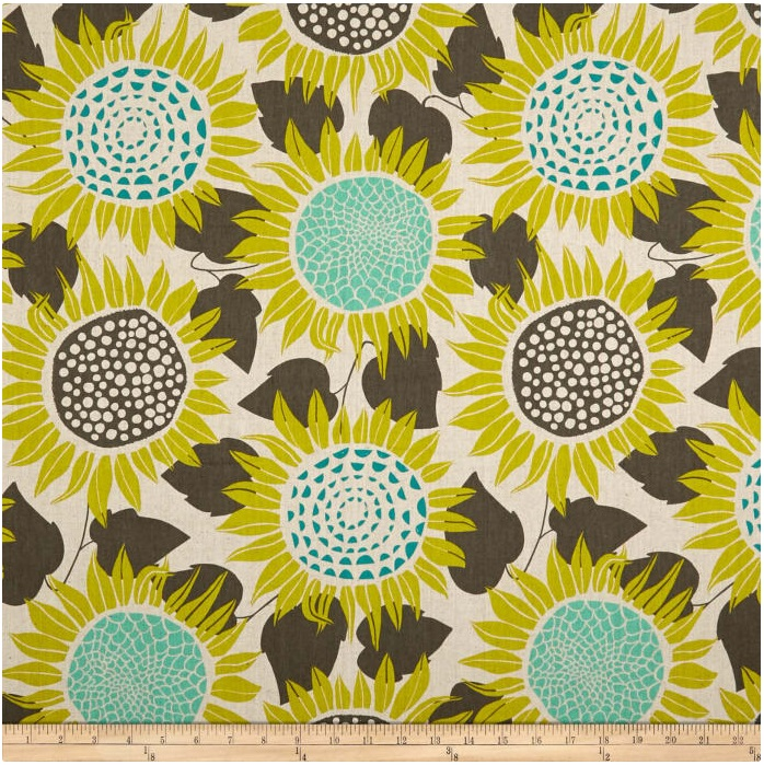 Cotton + Steel - Front Yard - Canvas Sunflowers (Yellow)