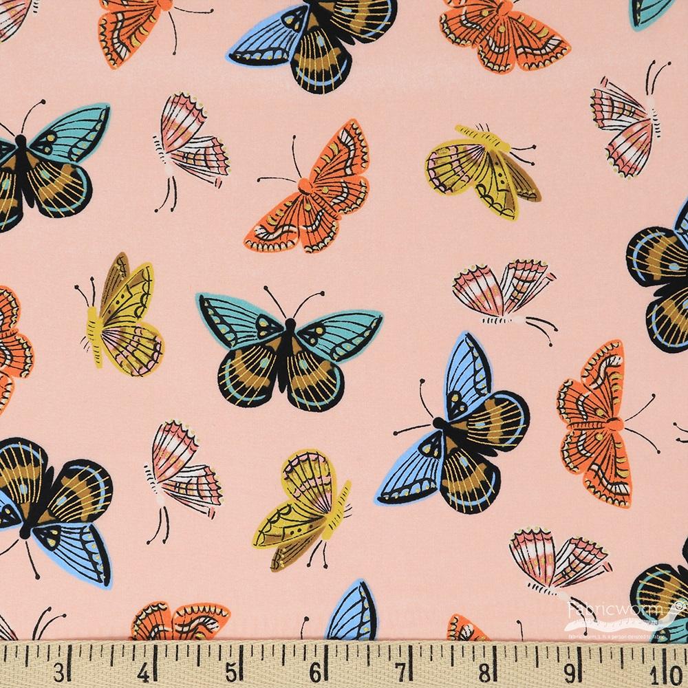 Cotton + Steel - English Garden - Cotton Lawn - Monarch (Peach)