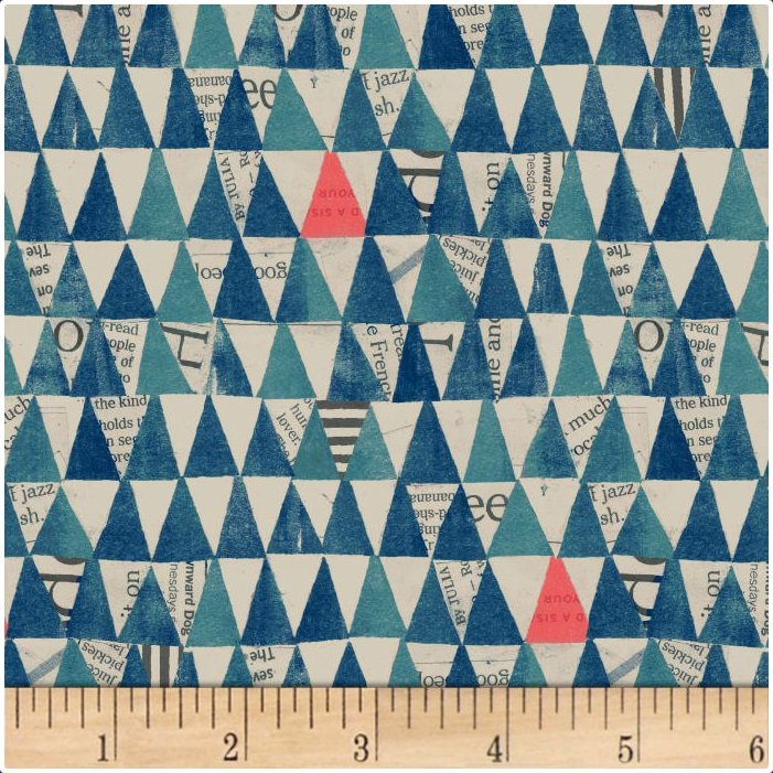 Carrie Bloomston - Wonder - Triangles (Navy)