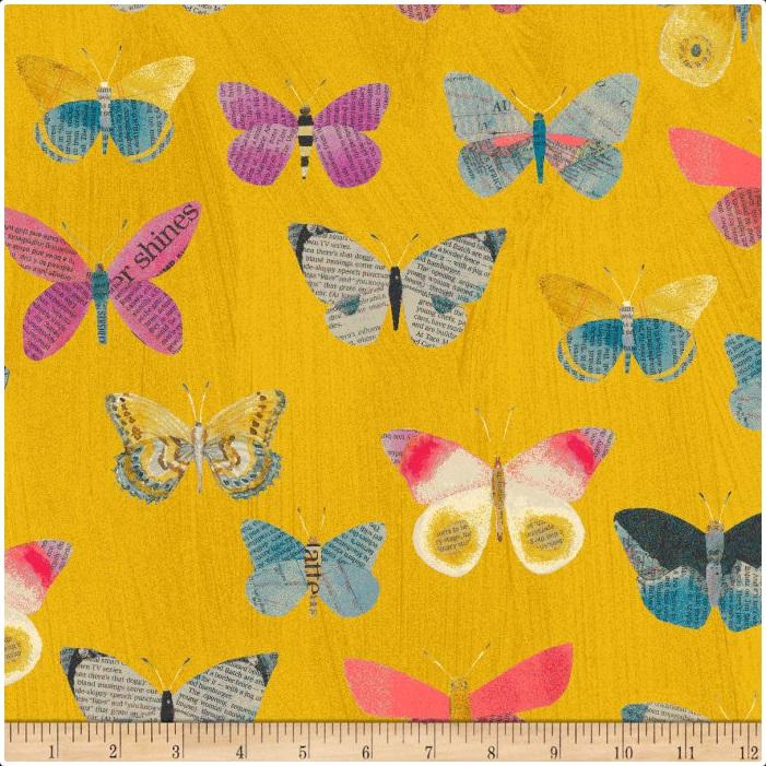 Carrie Bloomston - Wonder - Butterfly (Mustard)