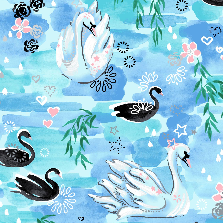 RJR - Enchanted Swan - Waltz in the Willows (Aqua Metallic)