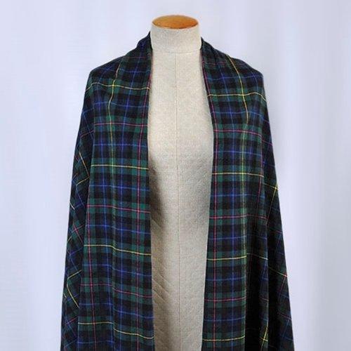 Michael Levine - Plaid Flannel Shirting - Hunter Green / Navy Blue / Multi