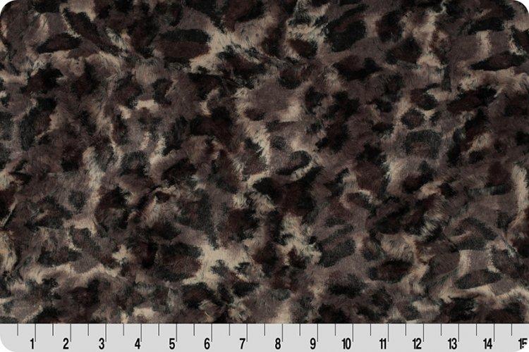 Shannon Fabrics - Luxe Cuddle - Bobcat (Taupe / black)