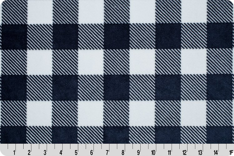 Shannon Fabrics - Cuddle - Buffalo Check (Navy/Snow)