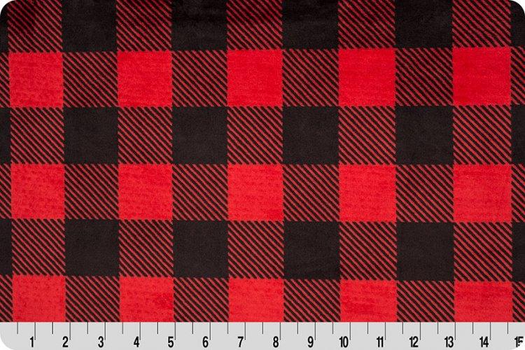 Shannon Fabrics - Cuddle - Buffalo Check (Scarlet/Black)