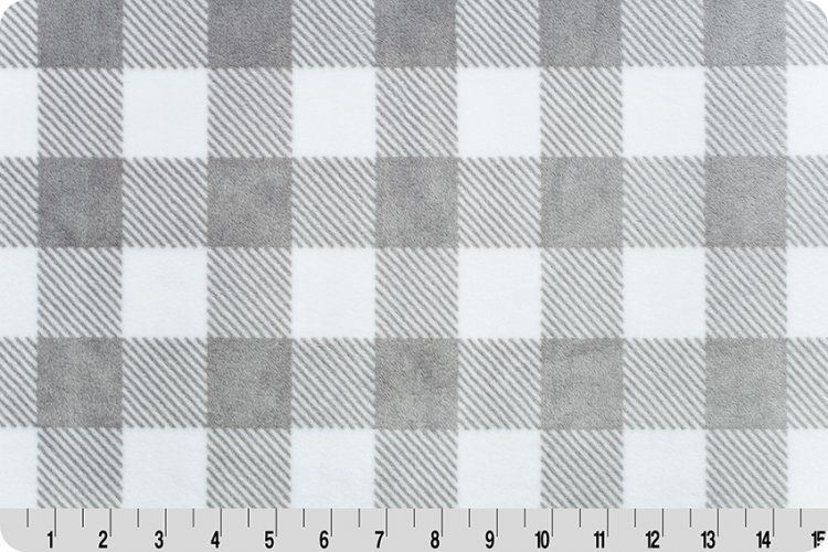 Shannon Fabrics - Cuddle - Buffalo Check (Steel/snow)