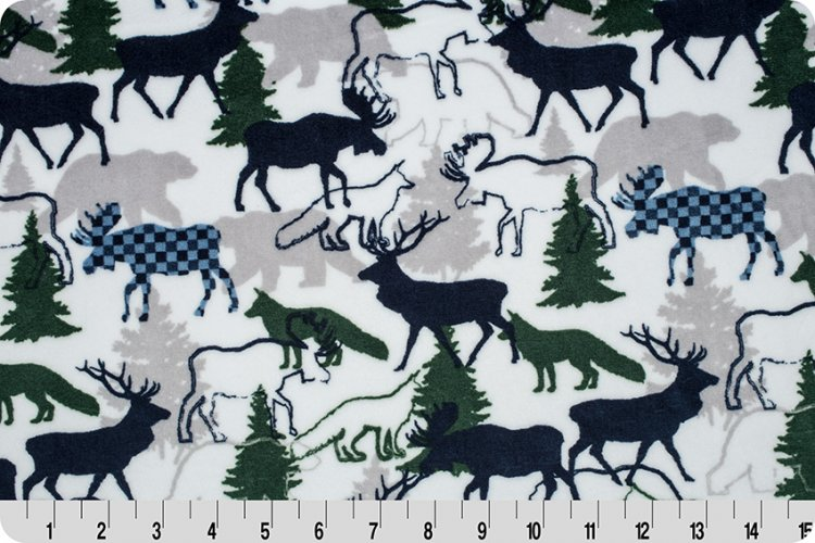 Shannon Fabrics - Cuddle - Forest Park (Navy)