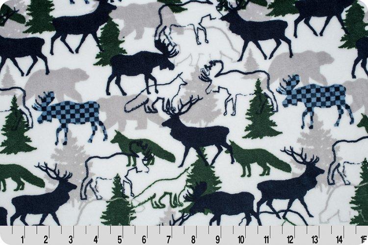 Shannon Fabrics - Cuddle - Forest Park (Navy)