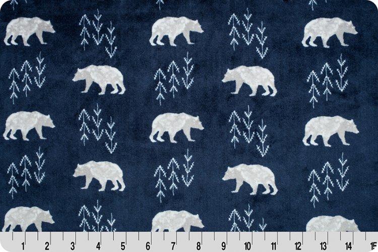 Shannon Fabrics - Cuddle - Bearfoot (Navy)
