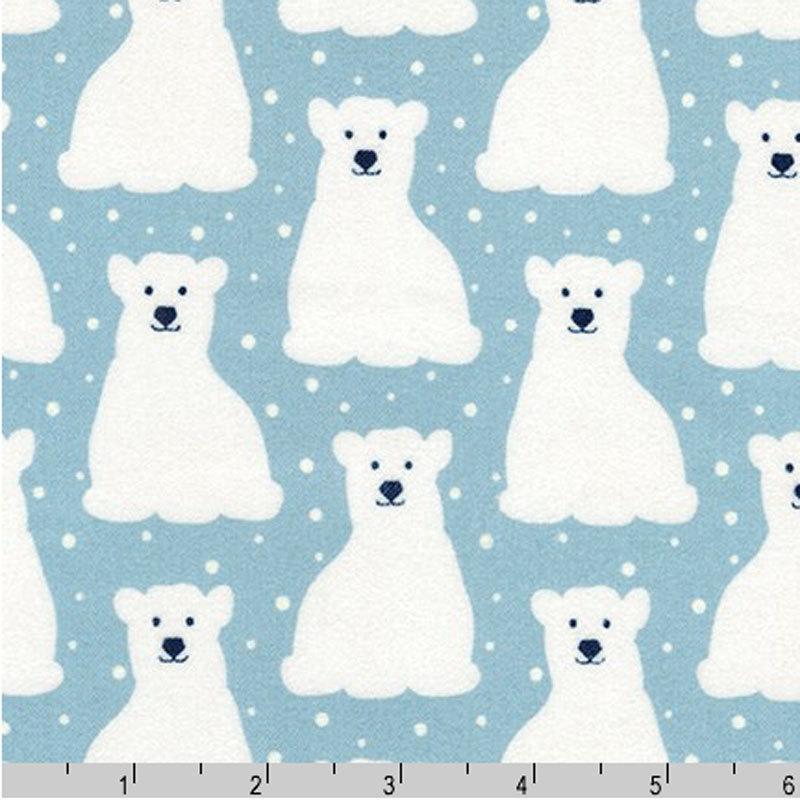 Elizabeth Hartman - Arctic Flannel - Polar Bears (Sky)