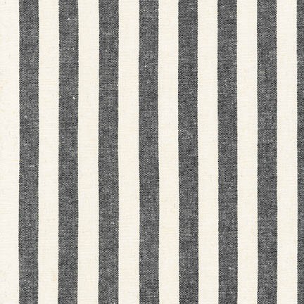 Robert Kaufman - Essex Yarn Dyed Classic Wovens - .75In Stripe (black)