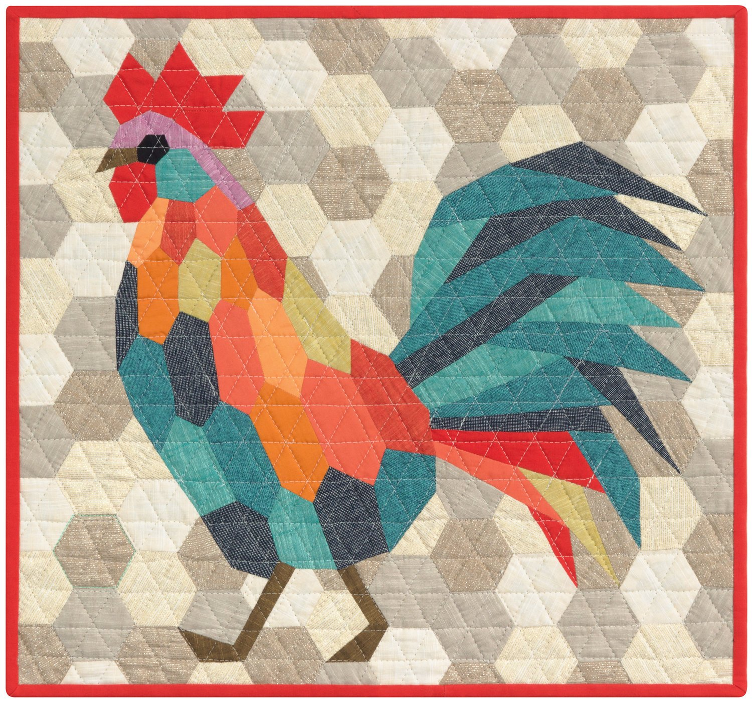 Pattern - Violet Craft - The Rooster (English Paper Piecing Project)