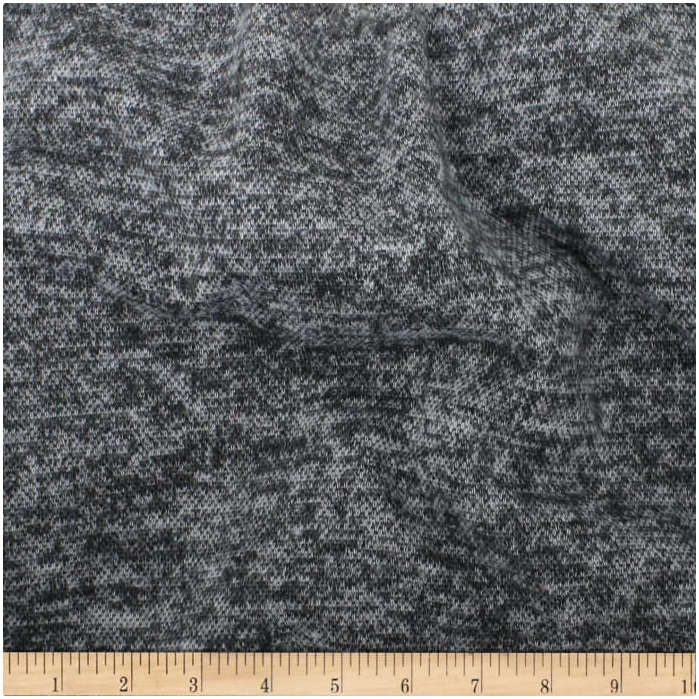 Telio - Knit Knack - Brushed Sweater Knit (Dark Grey)