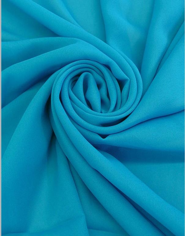 Ralph Lauren - Georgette - Pacific Blue
