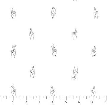 Figo - Lucky Charms - Cross Finger (white)