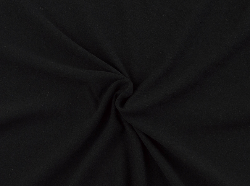 Fabric Merchants - Double Brushed Poly Spandex Jersey Knit - Black