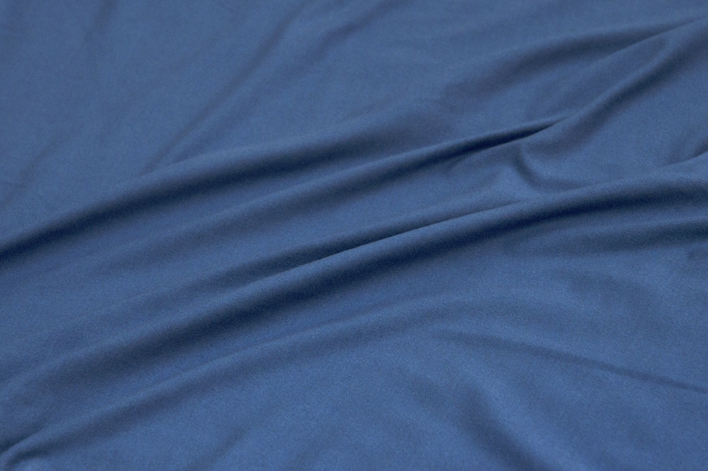 Fabric Merchants - Double Brushed Poly Spandex Jersey Knit - Indigo