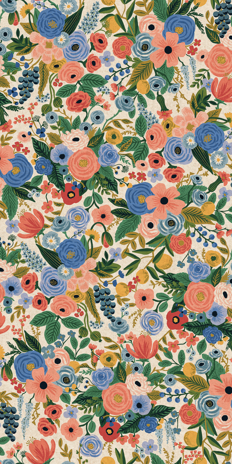 Cotton + Steel - Wildwood - CANVAS - Garden Party (Blue)