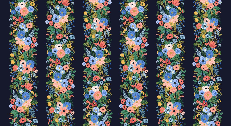 Cotton + Steel - Wildwood - RAYON - Garden Party Vines (Blue)