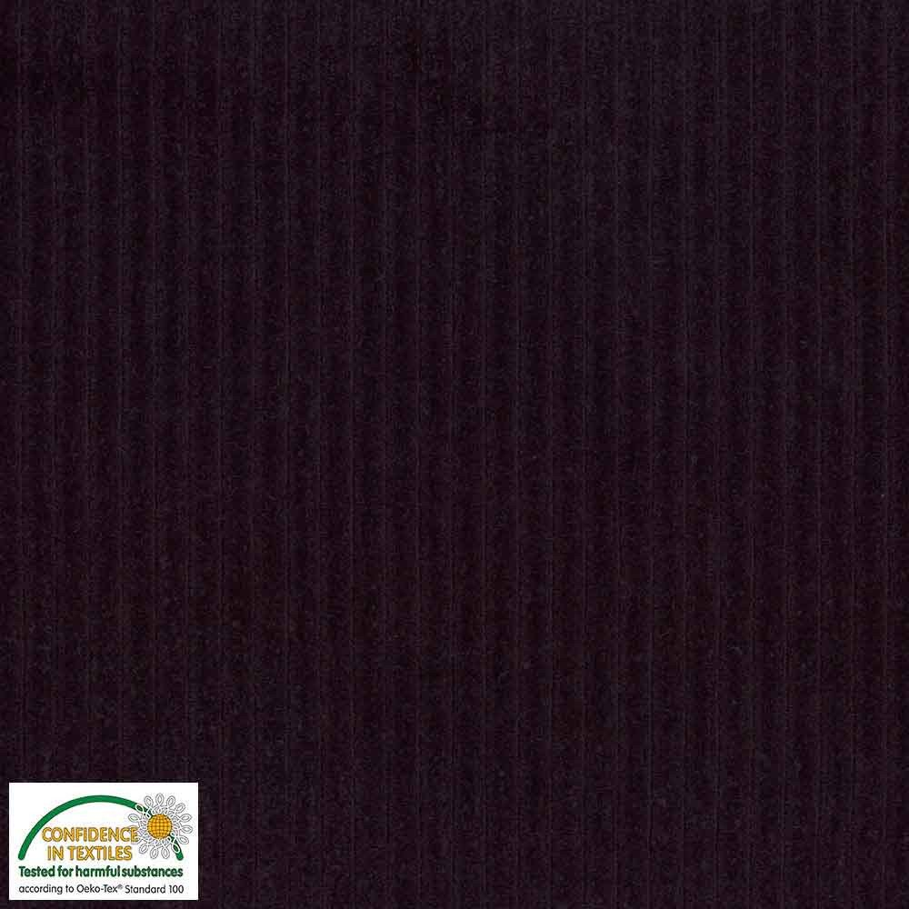 Stof Fabrics Corduroy knit 103 Dark Purple