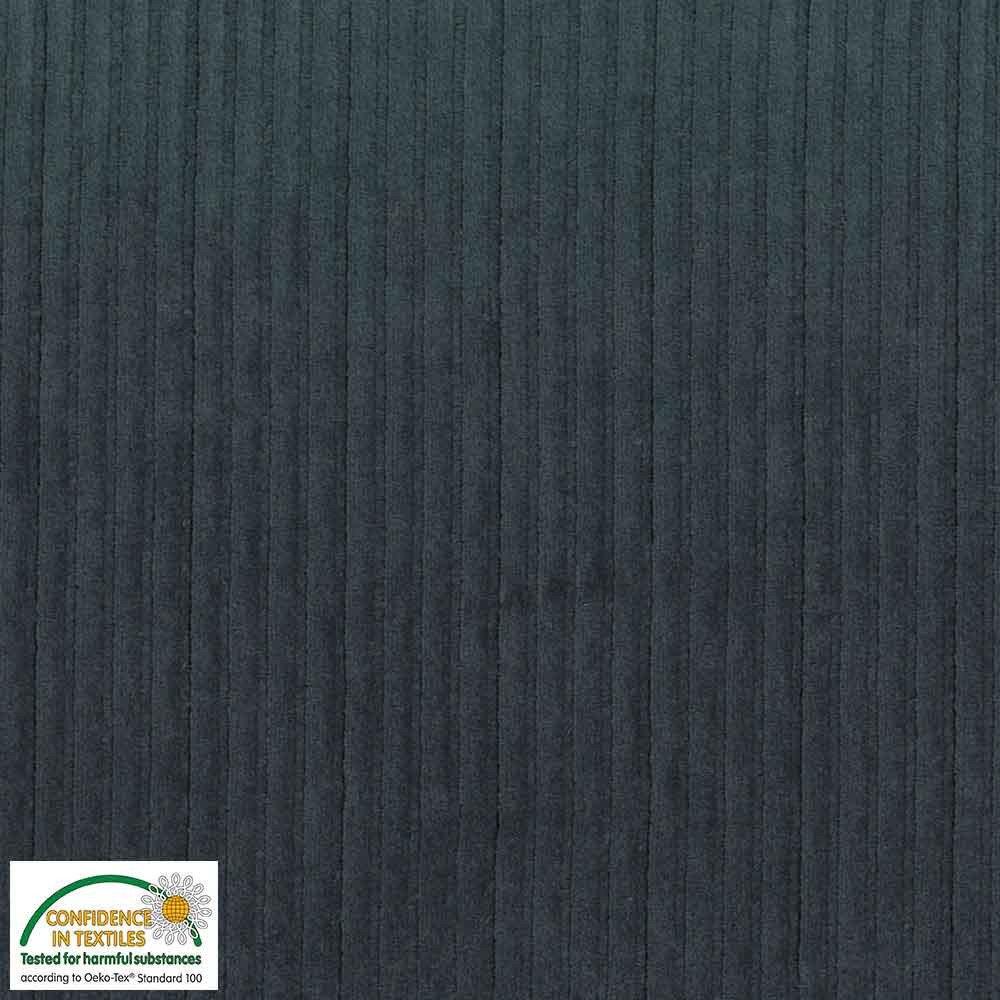 Stof Fabrics Corduroy knit 103 Grey