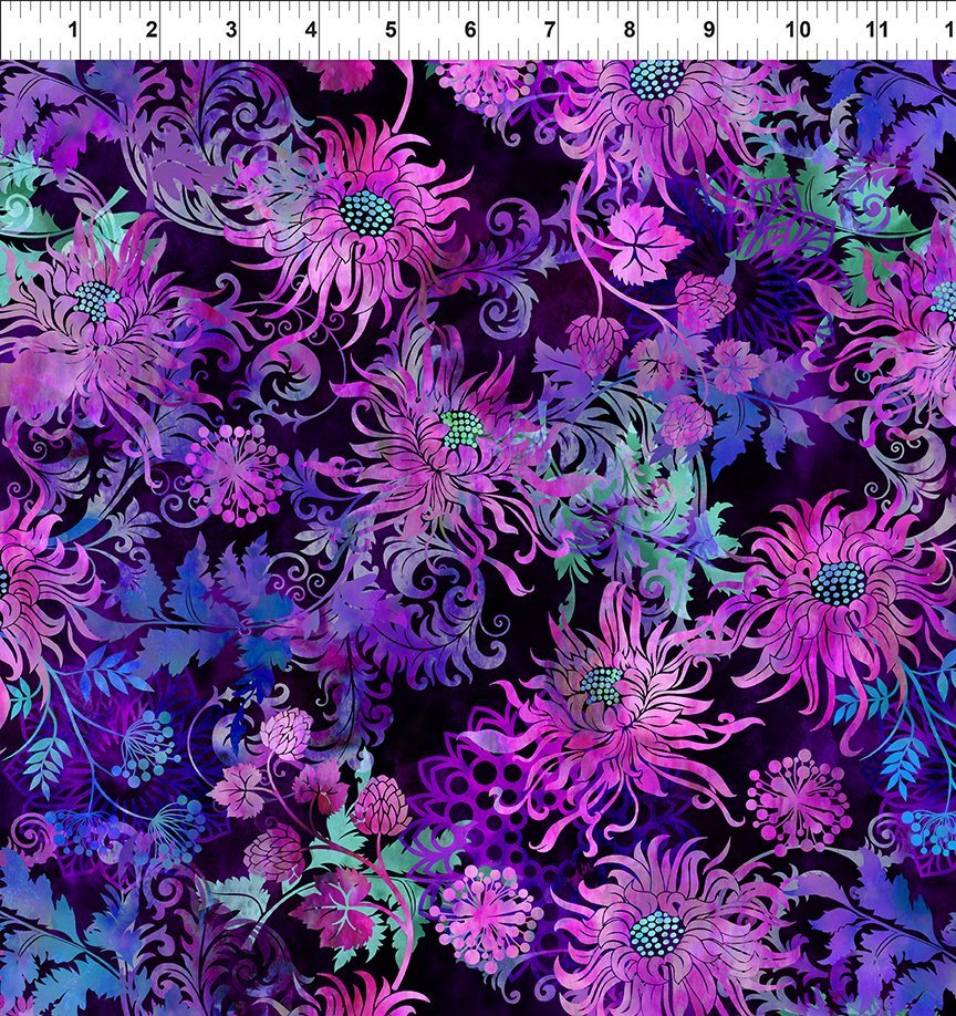 In the Beginning, Floragraphix V - Floral Allover Purple