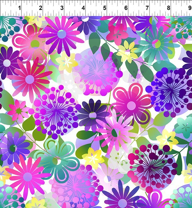 In the Beginning, Groovy Garden - Garden Small Purple