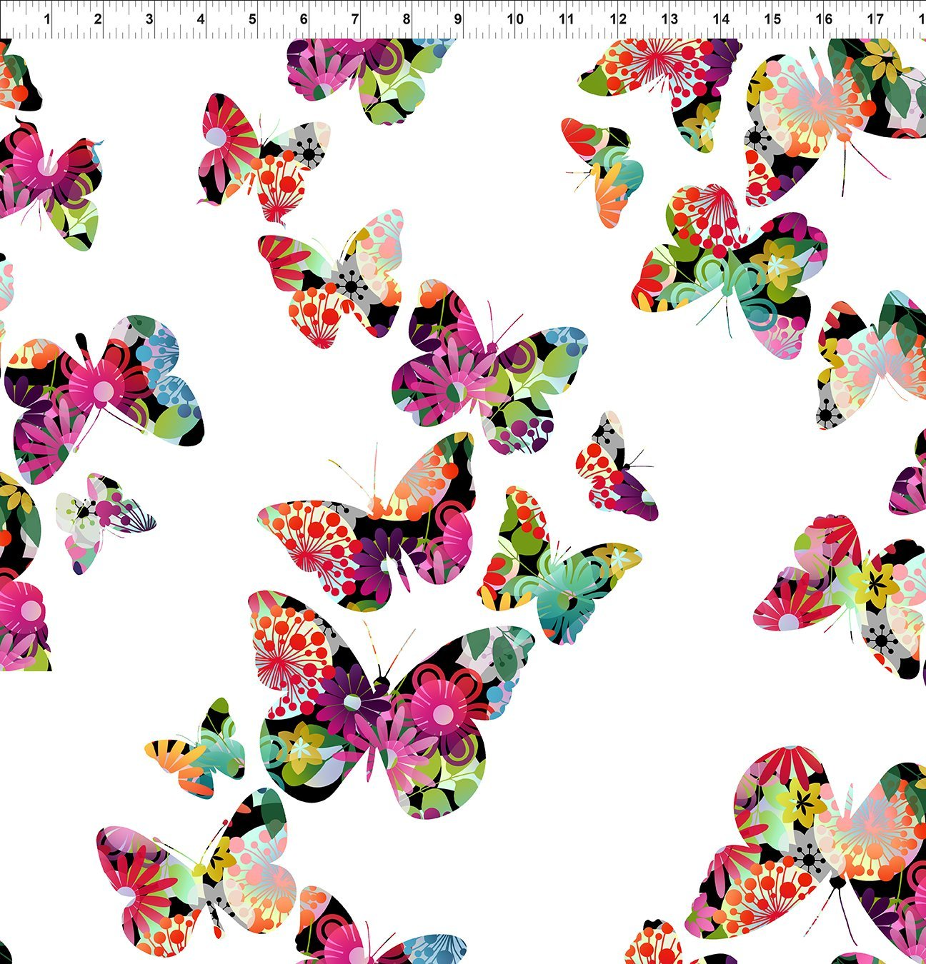 In the Beginning, Groovy Garden - Butterflies Multi