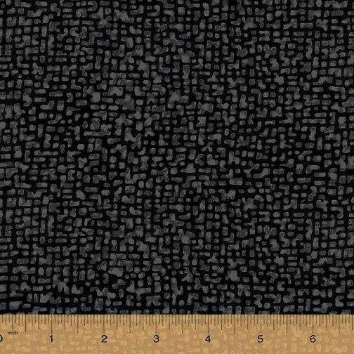 Windham Fabrics, Bedrock Tonal Black 108 WIDE