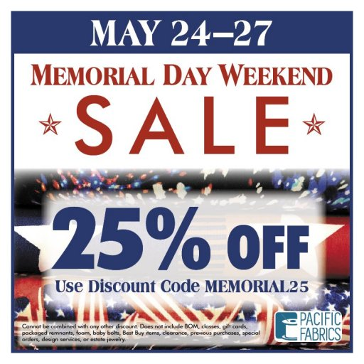 e47d80bfc290b Enter the code MEMORIAL25 at check out to save 25% store wide!